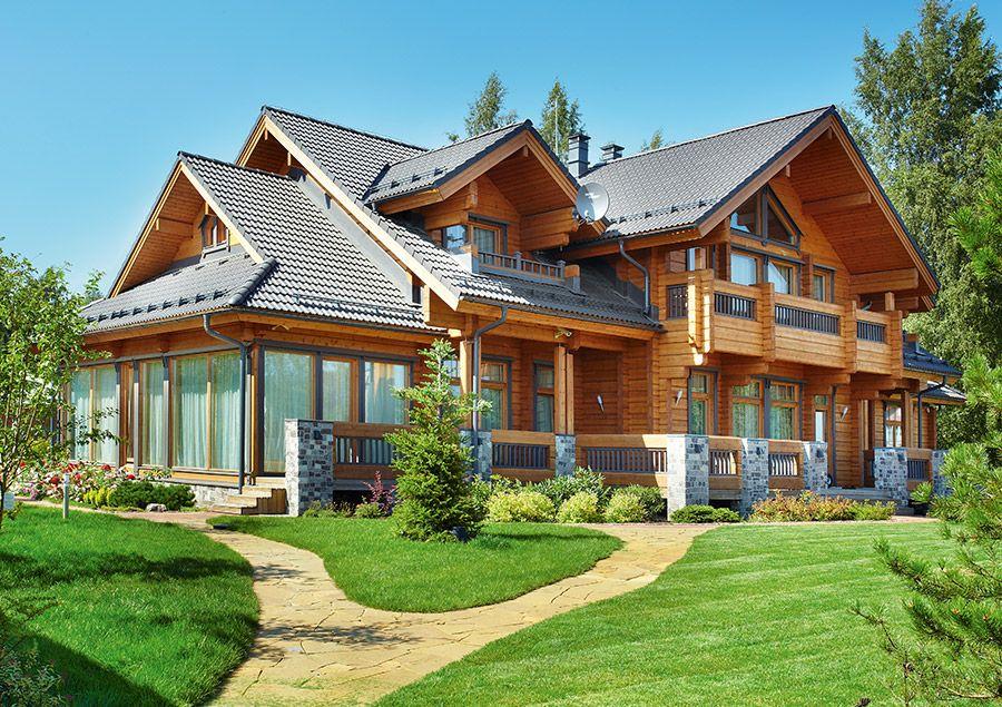 Комбинированный загородный дом с цокольным этажом